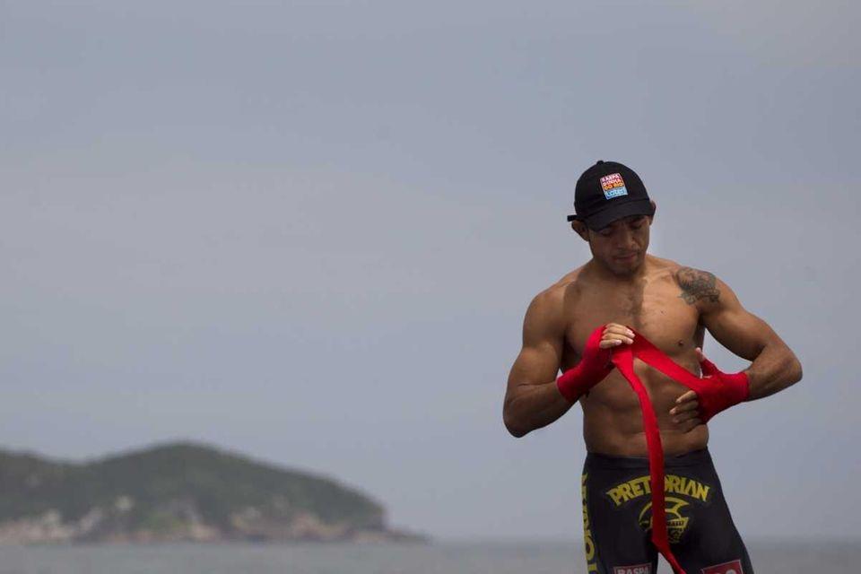 Jose Aldo prepares to train during UFC Rio