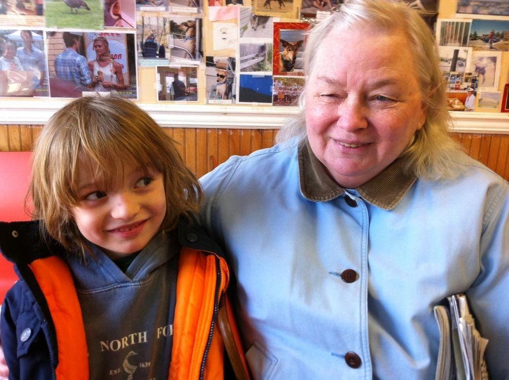 Rosemarie Milowski, 69, of Mattituck, was walking around