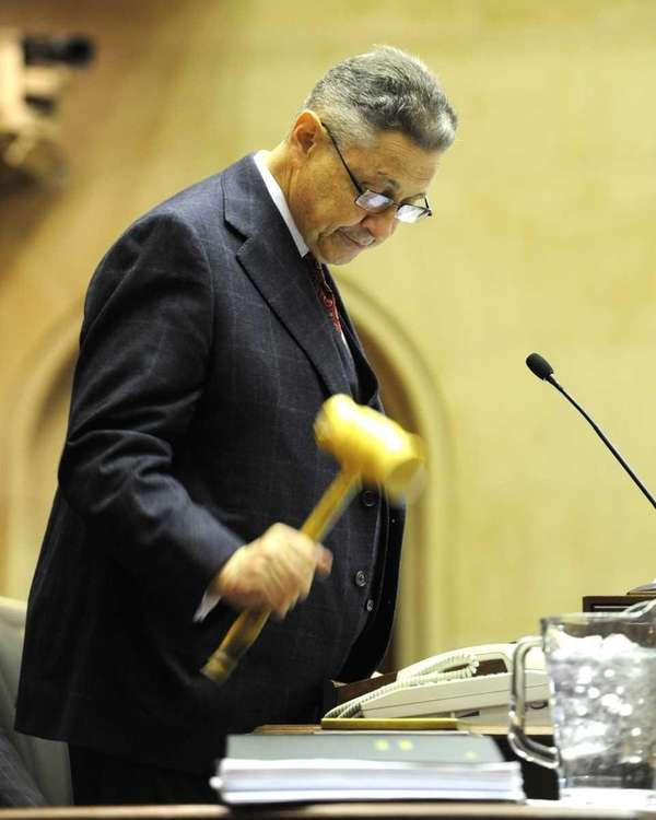 Assembly Speaker Sheldon Silver gavels in the new