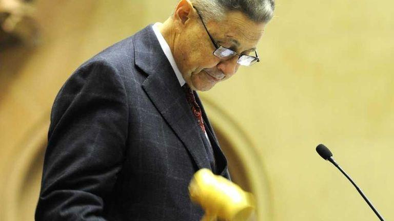 Assembly Speaker Sheldon Silver gavels in the new