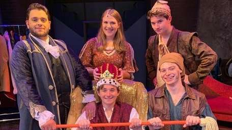 "The cast of ""The Emperor's New Clothes"" at"