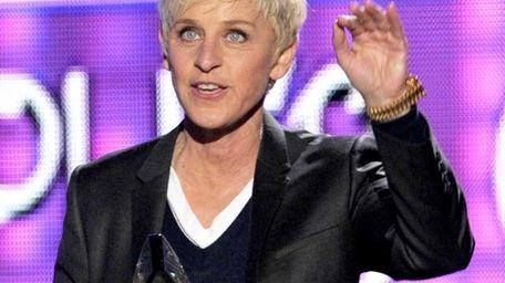 Ellen DeGeneres accepts the favorite daytime TV host