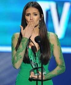 Actress Nina Dobrev, winner of the favorite TV