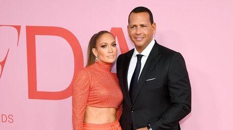 Jennifer Lopez and Alex Rodriguez attend the CFDA
