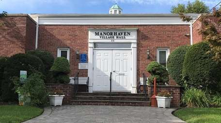 A view of the Manorhaven Village Hall on