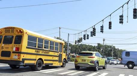 Traffic lights out at Route 25A and Rocky