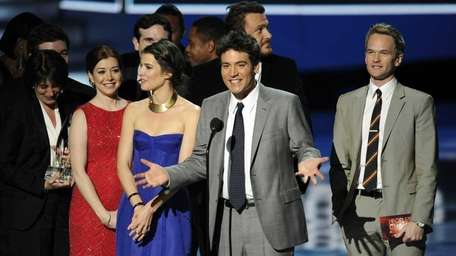 From left, Alyson Hannigan, Cobie Smulders, Josh Radnor,