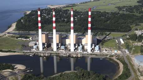 The LIPA Power Plant in Northport is shownin
