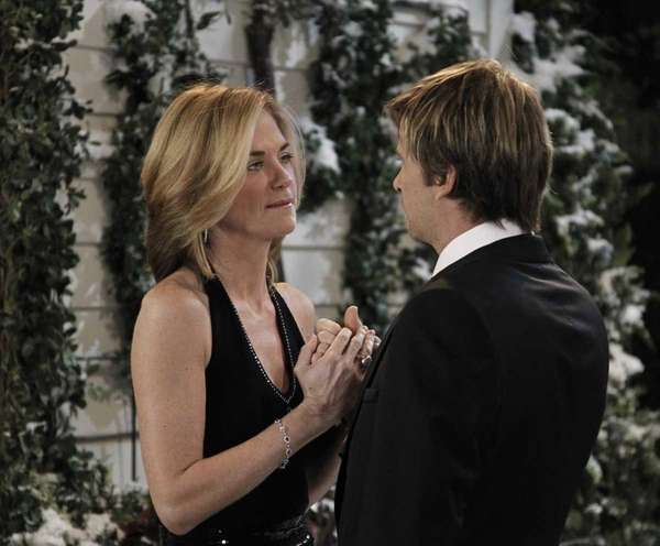 Kassie DePaiva and Roger Howarth in a scene