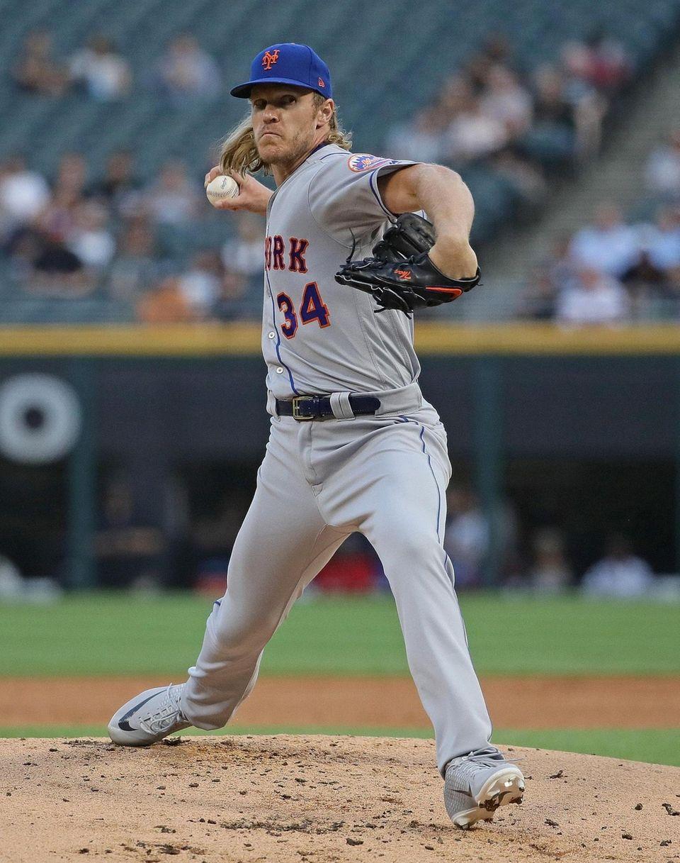 CHICAGO, ILLINOIS - JULY 30: Starting pitcher Noah