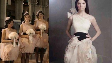 Blair's bridesmaids will wear White by Vera Wang's