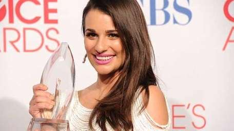 Actress Lea Michele poses during the 2012 People's