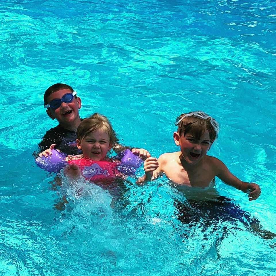 Pool days with cousins in East Northport! Joey
