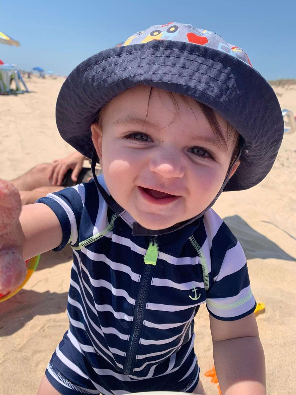 Selfies at the beach! Nico Nese, 10 months