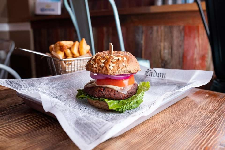 The Green Thumb burger is vegetable burger house