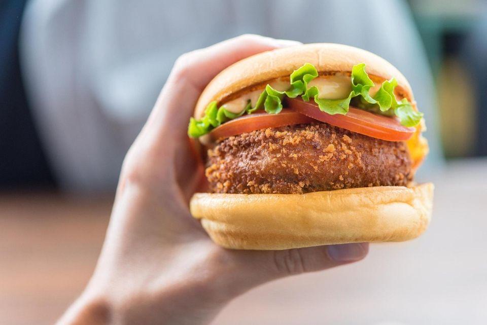 """The Shake Shack 'Shroom burger""""."""