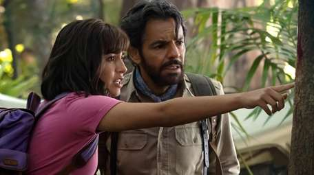 "Isabela Moner and Eugenio Derbez star in ""Dora"