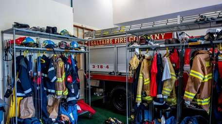 Equipment and gear hang at the Saltaire Fire