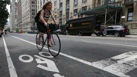 A protected bike lane planned for Central Park