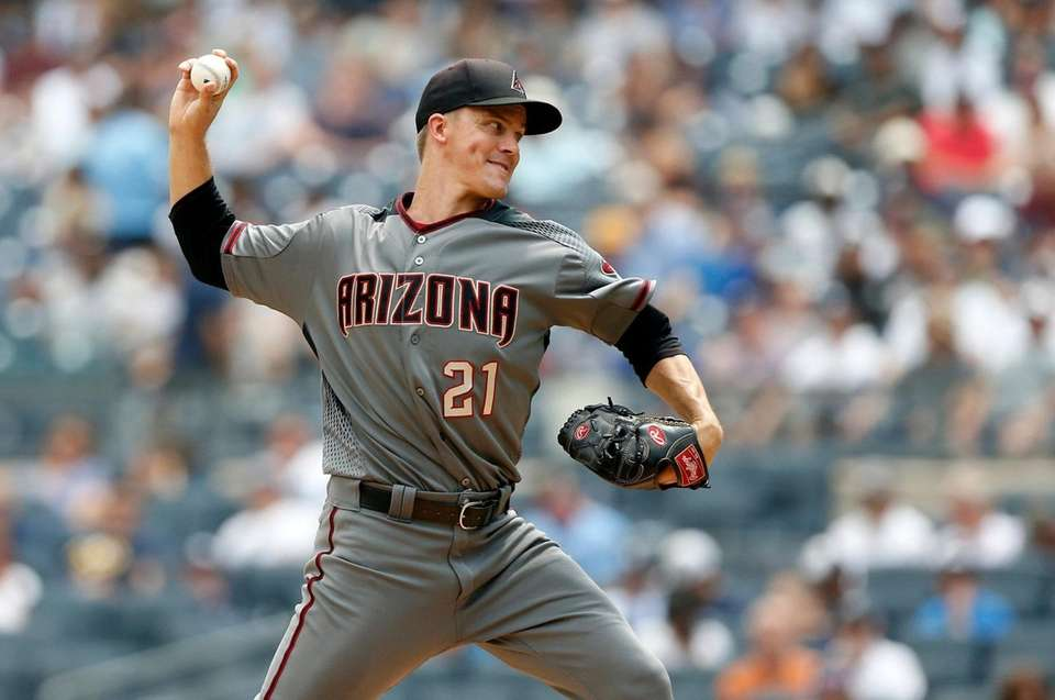 Zack Greinke of the Diamondbacks pitches during the