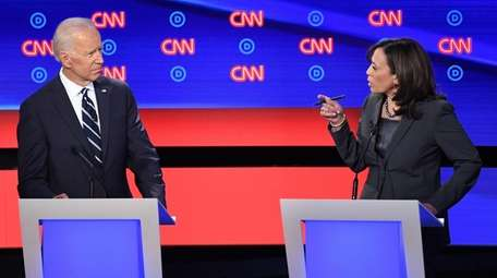 Democratic presidential candidates former Vice President Joe Biden