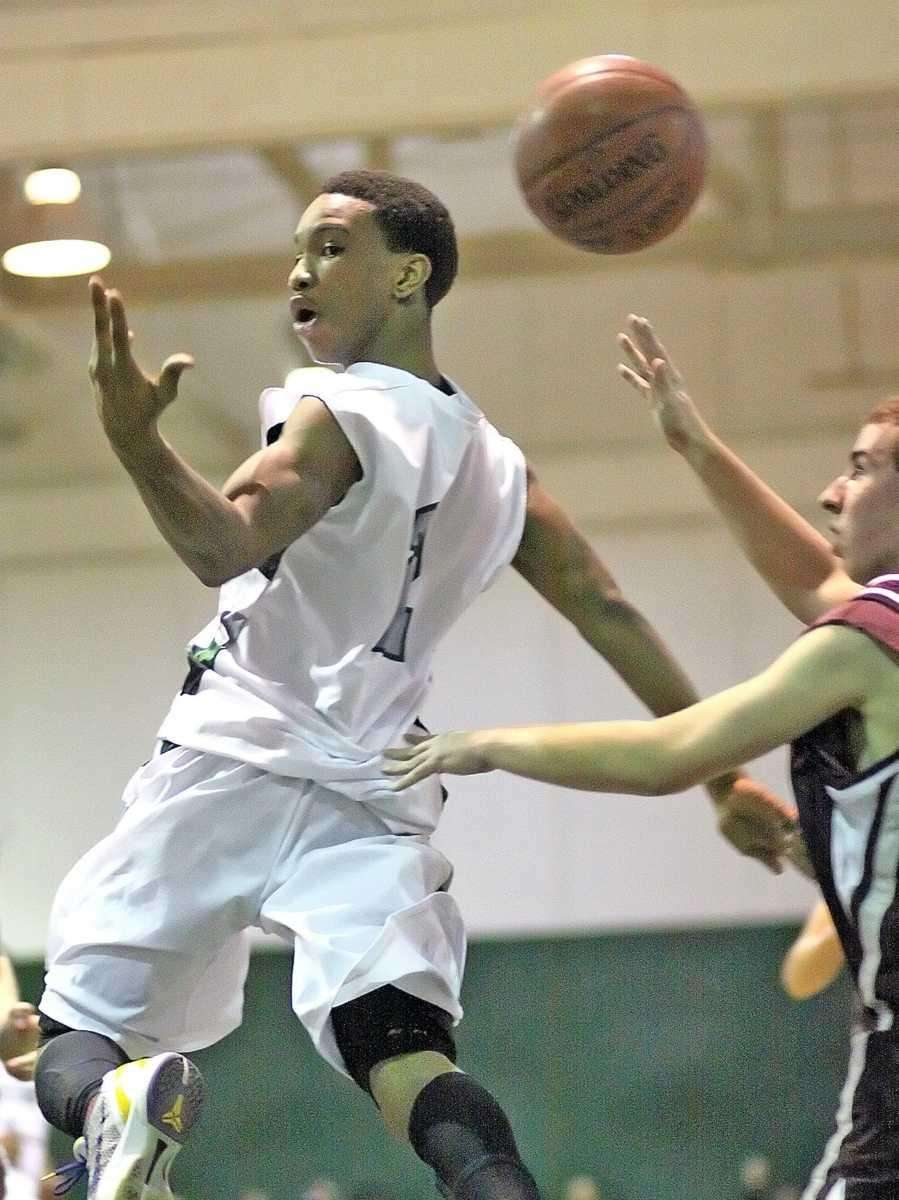 A behind the back pass from Elmont's Tristan