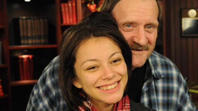 Samantha Garvey with her father, Leo, in West