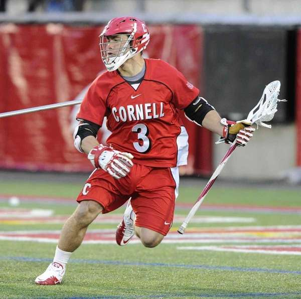 Cornell's Rob Pannell controls the ball against Stony