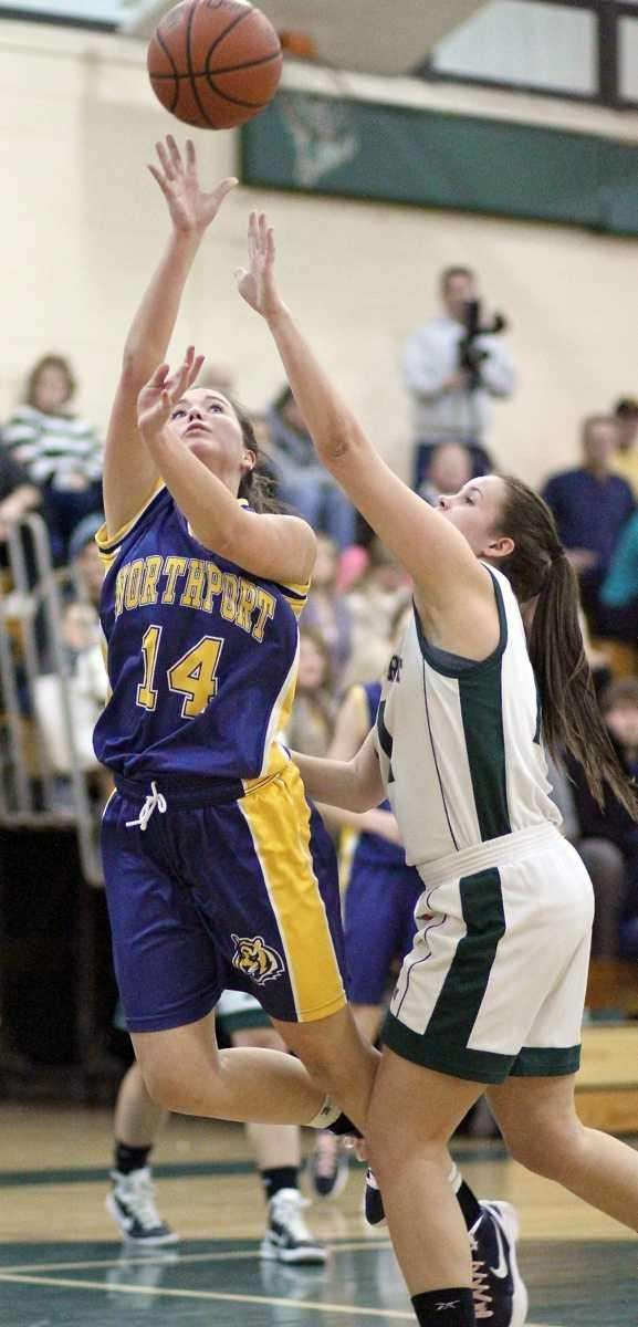 Northport Annie Dodge gets the shot off as