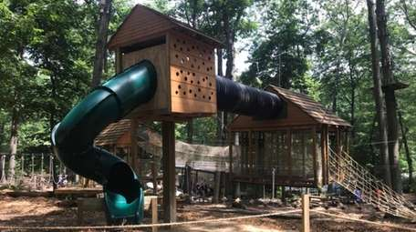 The Adventure Playground in Wheatley Heights features a