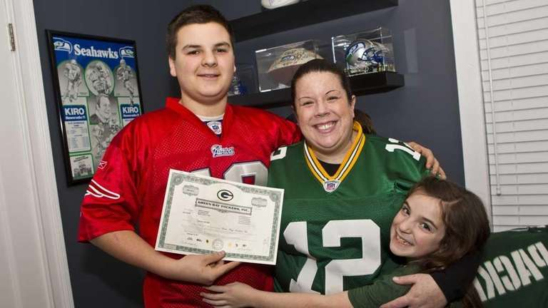 Kristin Karnay with godchildren Jack Ryan Bradley, 15