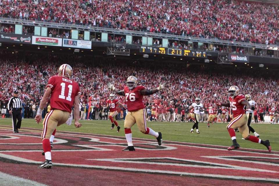 Alex Smith #11 of the San Francisco 49ers