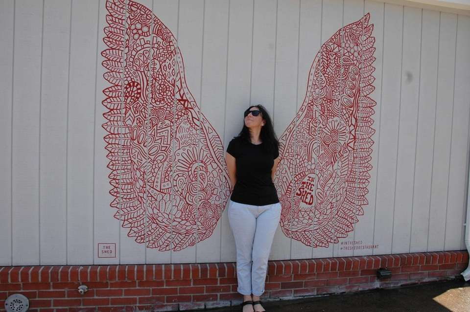 Naomi Margolin, of Melville, poses in front of