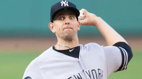Yankees starting pitcher James Paxton pitches during the