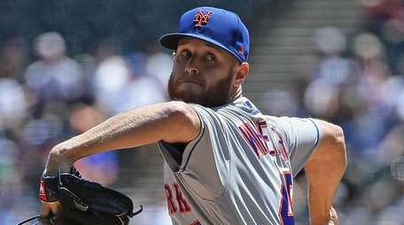 Starting pitcher Zack Wheeler of the New York