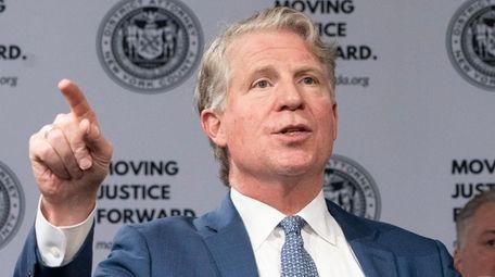 Manhattan District Attorney Cyrus R. Vance speaks on