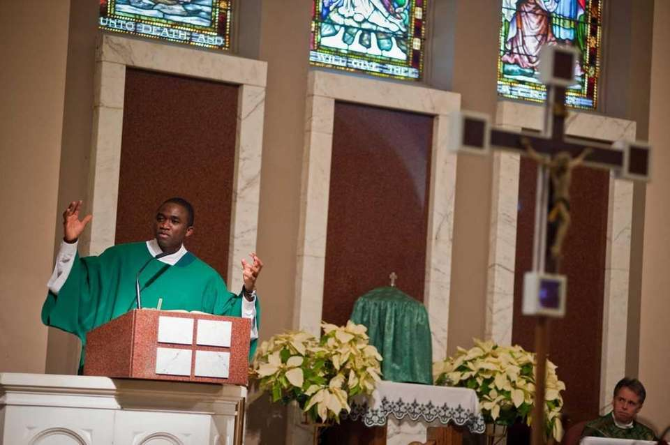 The Rev. Jacob Onyumbe, transitional deacon from the