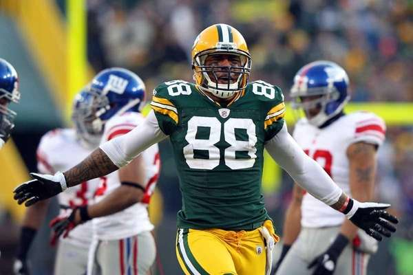 Jermichael Finley #88 of the Green Bay Packers