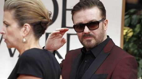 Ricky Gervais arrives at the 69th Annual Golden