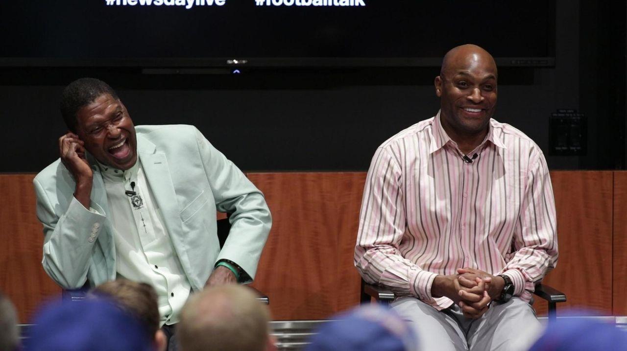 Former Jets receiver Wesley Walker and former Giants