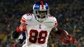Hakeem Nicks of the New York Giants celebrates
