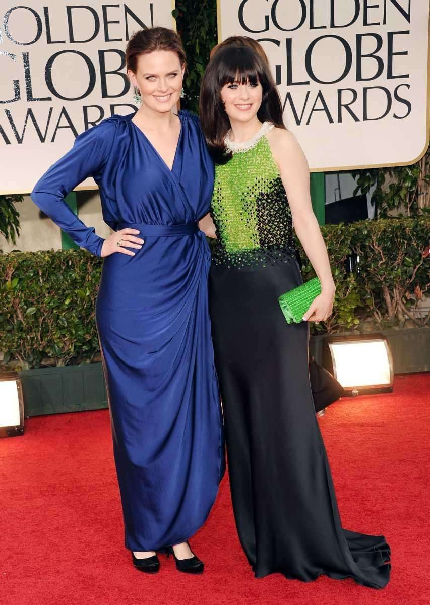 Actresses, and sisters, Emily Deschanel and Zooey Deschanel