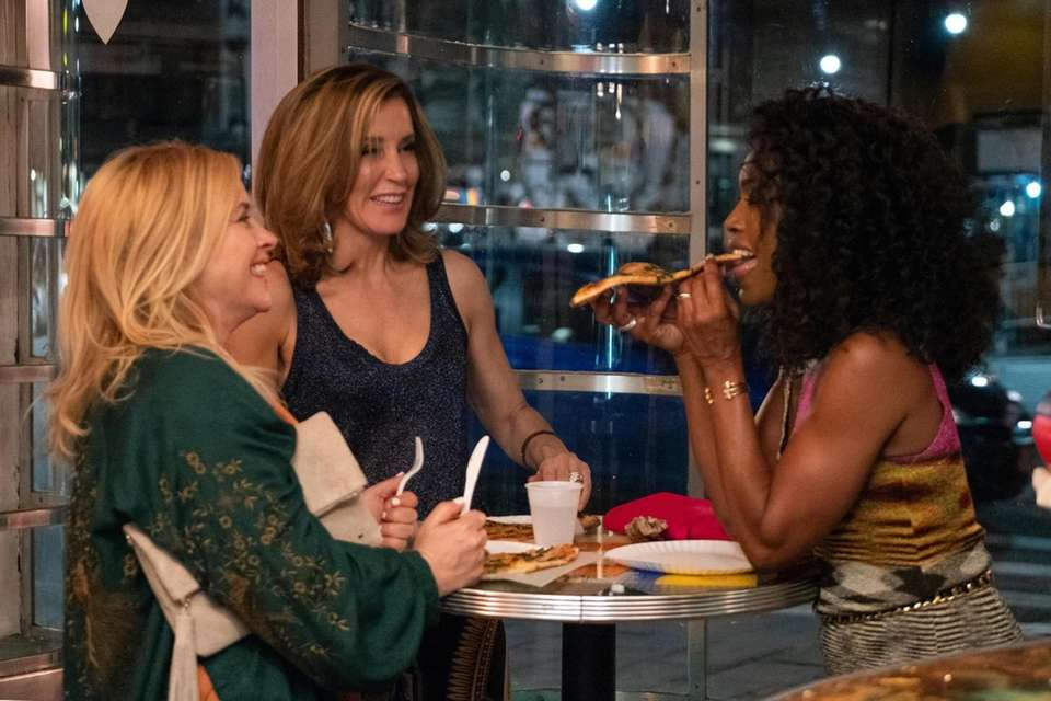 Patricia Arquette, left, Felicity Huffman and Angela Bassett