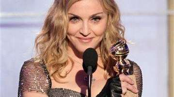 In this image released by NBC, Madonna accepts