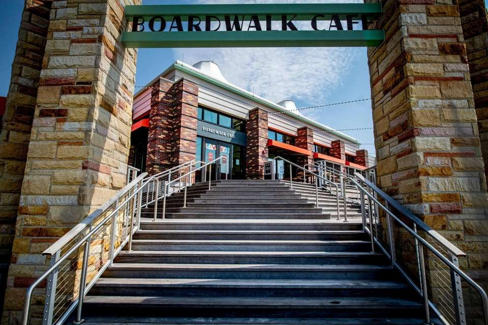The Boardwalk Cafe at the central mall at