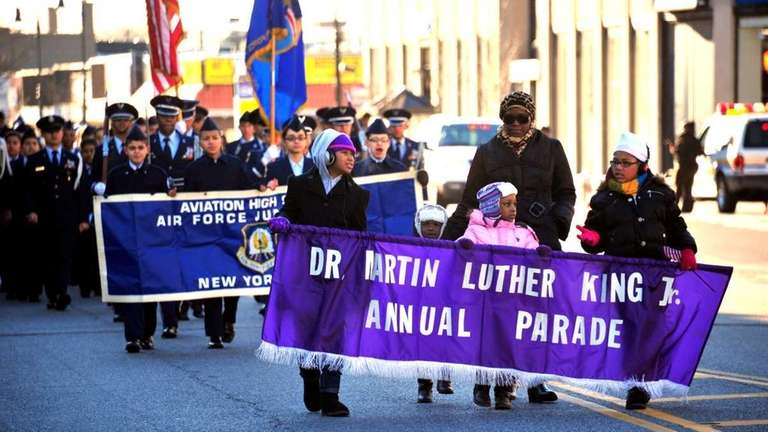 Participants in the Martin Luther King Jr. Parade