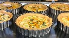 Zucchini and ricotta tarts at Blind Bat Brewery