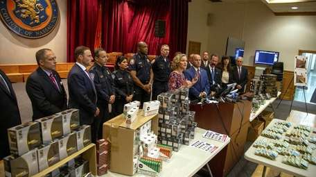 Law enforcement confiscated illegal vaping products on Friday