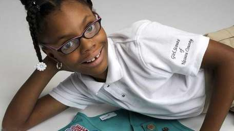 Junior Girl Scout Brianna Bourne, 9 of East