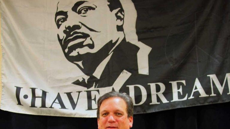 Nassau County Executive Edward Mangano speaks during the